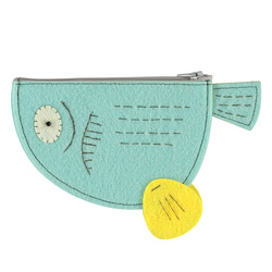 Kit felt clutch 19x10cm aqua 1 pc