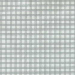 Non-woven oil cloth lt grey/white check