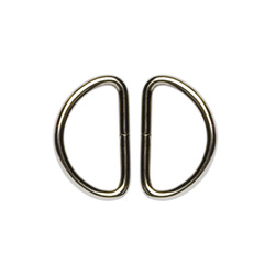 D-ring kraftig 32mm silver 2st