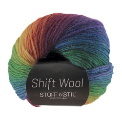 Garn shift wool rainbow mix