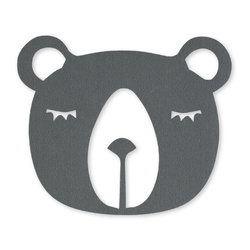 Patch bear 18x15cm grey 1 pc