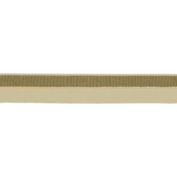 Folding elastic 20mm gold lurex/beige 2m