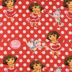 Cotton red with Dora the Explorer