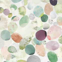 Percale patterned abstract circles
