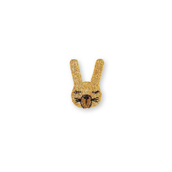 Stoffappl. Hase Gold 36x25mm, 1 St.