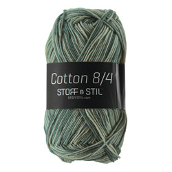 Garn cotton 8/4 grønn mix