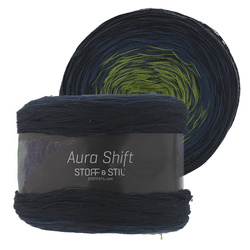 Yarn aura shift navy/blue/green 150g