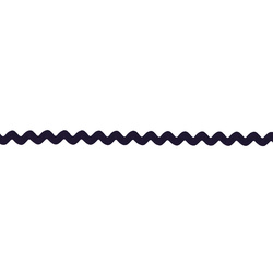 Ric rac ribbon 5mm dark navy 3m