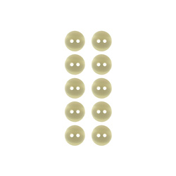 Button 11mm 2-holes nature 10pcs