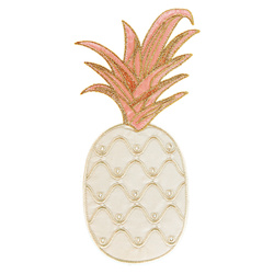 Patch pineapple 105x213mm white 1 pc