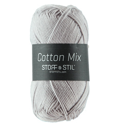 Garn Cotton Mix, ljusgrå