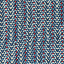 Light twill nature w blue zig zag print