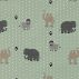 Cotton dusty green w jungle animal