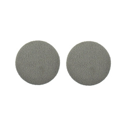 Shank button velour 30mm grey 2pcs