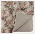 Percale note sheet/bells Christmas print