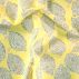 Woven oil cloth unbleach/yellow w lemon