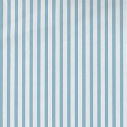 Non-woven oil cloth blue/white stripes