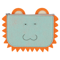 Kit felt clutch 23x15cm aqua/orange 1 pc
