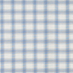 Woven oilcloth nature/light blue square