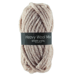 Garn heavy wool mix sand