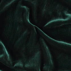 Woven viscose velvet bottle green