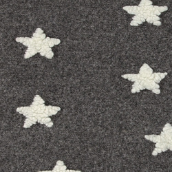Wool felt grey melange with stars
