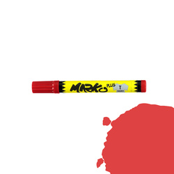 Textile pen permanent 5mm red
