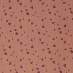 Twill light redbrown w brodeaux stars