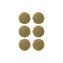 Shank button 19mm brushed gold 6 pcs