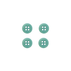 Button corozo 12mm 4-holes petrol 4pcs