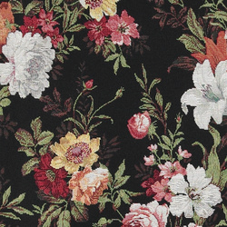 Gobelin black w flowers