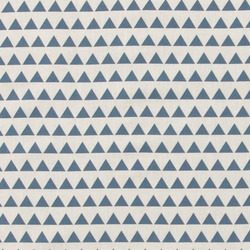 Cotton blue/sand triangles