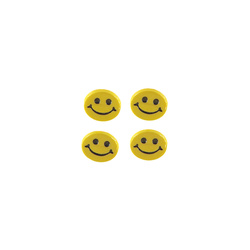 Knapp 15mm gul smiley 4 st