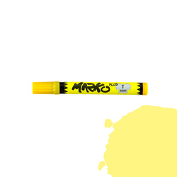 Textile pen permanent 5mm yellow