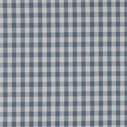 Cotton yarn dyed dove blue/white check