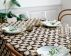 Woven oilcloth linenlook w graphic print
