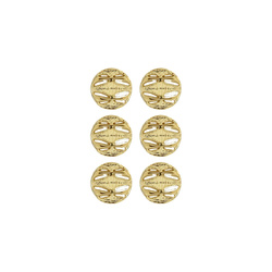 Shank button 14mm gold 6 pcs