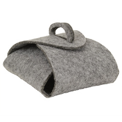 Kit felt gift box 12x13cm grey 1 pc