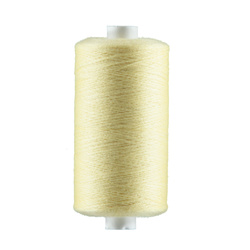 Sewing thread light yellow 1000m