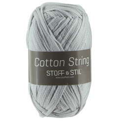 Cotton string lys grå