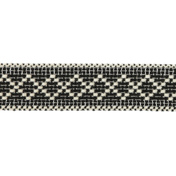 Ribbon woven 30mm black/nature 2m