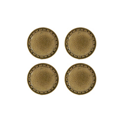 Shank button 25mm oxidised gold 4 pcs