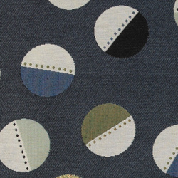 Gobelin blue w pattern circles
