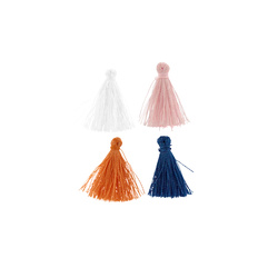 Pendant 2cm 4 colors tassels 4 pcs