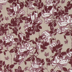Woven sand w bordeaux and white roses