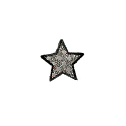 Patch star 40x41mm silver/black 1 pc