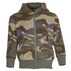 Polar fleece dark green camouflage