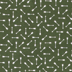 Woven dark green w white arrow