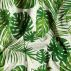 Cotton green graphic w big leaves