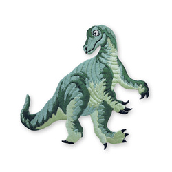 Patch dino 110x100mm green 1 pcs